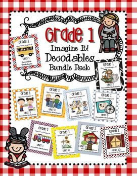 Open Court Imagine It: Decodable Worksheets Bundle Pack for Grade 1