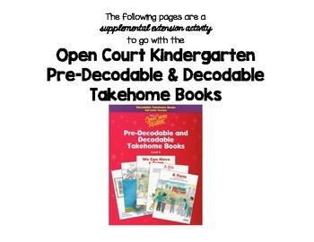 Open Court Kindergarten Decodable Book Practice Pages