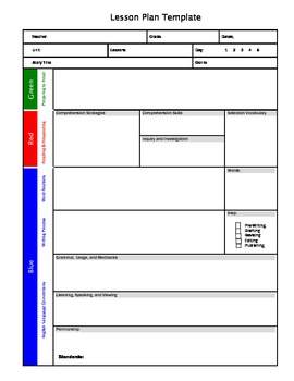 Open Court Lesson Plan Template-Interactive