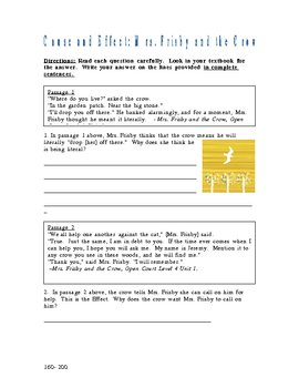 Open Court Level 4 Unit 1 Differentiated Worksheets C