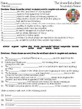 Open Court - McGraw Hill - U3W4 The House Baba Built Vocabulary Review Sheet