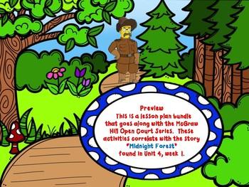 Open Court - McGraw Hill - U4W1 Midnight Forests Lesson Plan Bundle