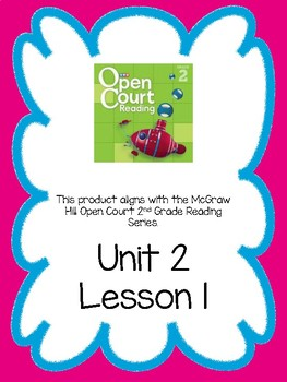 Open Court Reading Comprehension and Vocabulary Unit 2 Lesson 1 Grade 2