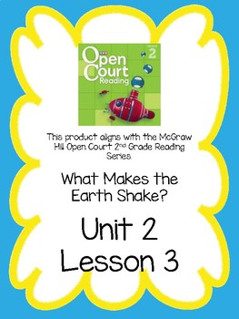 Open Court Reading Comprehension and Vocabulary Unit 2 Lesson 3 Grade 2
