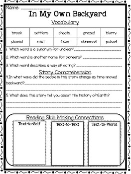 Open Court Reading Comprehension and Vocabulary Unit 2 Lesson 5 Grade 2