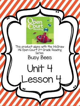 Open Court Reading Comprehension and Vocabulary Unit 4 Lesson 4 Grade 2