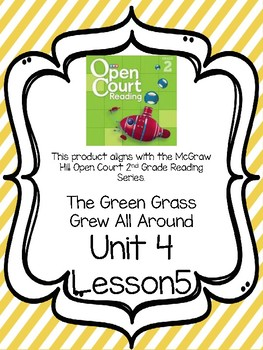 Open Court Reading Comprehension and Vocabulary Unit 4 Lesson 5 Grade 2