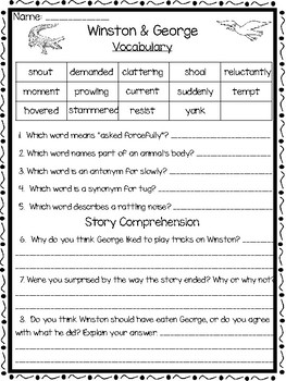 Open Court Reading Comprehension and Vocabulary Unit 4 Lesson 6 Grade 2