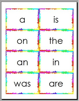 Open Court Reading High Frequency Word Flash Cards by Chrissy Brown