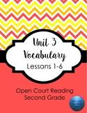 Open Court Reading Unit 3 Vocabulary- Second Grade