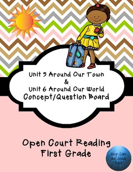 First Grade Open Court Reading Unit 5 and 6 Concept/Question Board