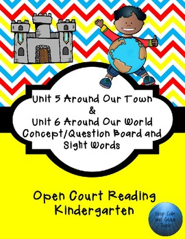 Kindergarten Open Court Reading Unit 5 and 6 Concept/Question Board