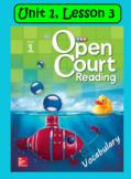 Open Court Reading Vocabulary: Unit 1, Lesson 3