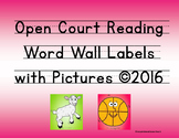 Open Court Reading Word Wall Labels