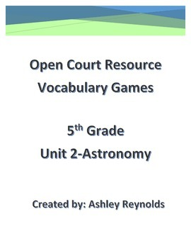 Open Court Resource(5th Grade)-Vocabulary Games