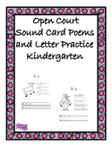 Open Court Sound Spelling Card Poems and Letter Practice