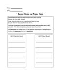 Open Court Unit 1 Lesson 1 Grammar Test Common and Proper Nouns