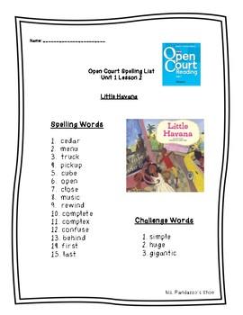 Open Court Unit 1 Lesson 2 - Little Havana