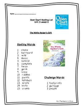 Open Court Unit 1 Lesson 6 - The White Spider's Gift