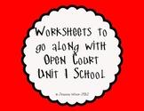 Open Court Unit 1 Worksheets