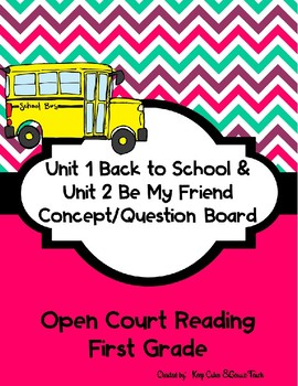 First Grade Open Court Unit 1 and 2 Concept/Question Board