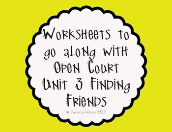 Open Court Unit 3 Worksheets