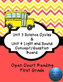 First Grade Open Court Unit 3 and 4 Concept/Question Board