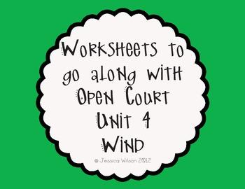 Open Court Unit 4 Worksheets