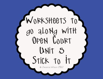 Open Court Unit 5 Worksheets