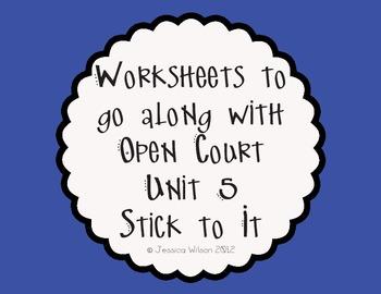 Open Court Unit 5 Worksheets