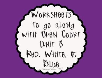 Open Court Unit 6 Worksheets