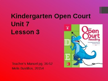 Open Court Unit 7 Lesson 3