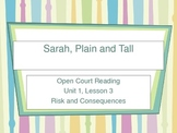 Open Court Vocabulary Unit 1 Lesson 3 - Sara, Plain and Tall