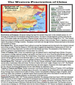 IMPERIALISM - Western Penetration of China: Reading and Questions