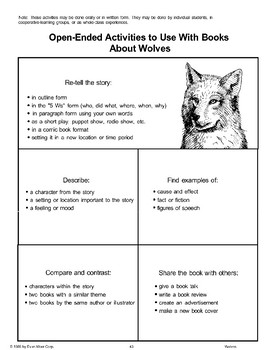 Open-Ended Activities to Use with Books About Wolves