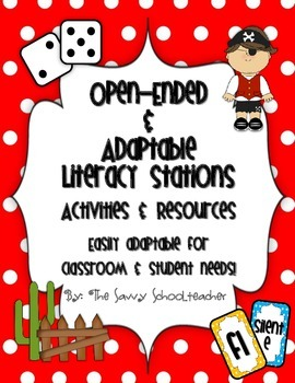 Open-Ended & Adaptable Literacy Stations