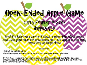 Open-Ended Apple Game
