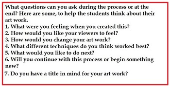 Art... Free!  What is Open Ended Art All About?   An Introduction (2 pages)