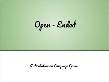 Open-Ended Artic & Language Game