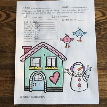 Open-Ended Articulation Homework for January (Winter-themed)