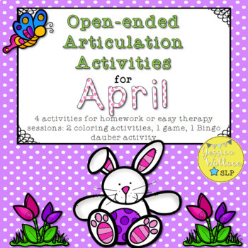 Open-Ended Articulation Homework for April (Spring Themed)