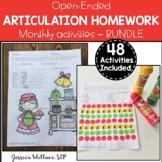 Open-Ended Articulation Homework BUNDLE