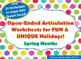 Open-Ended Articulation Worksheets for FUN & UNIQUE Holida