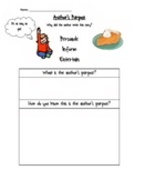 Open Ended Author's Purpose Graphic Organizer
