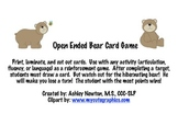 "Open Ended ""Bear"" Card Game"