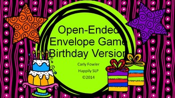 Open-Ended Birthday Envelope Game