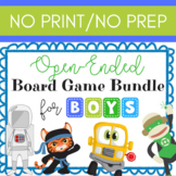 Open-Ended Board Game Bundle for Boys NO PRINT Teletherapy
