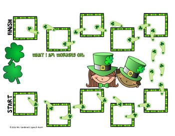Open Ended Board Games: St. Patrick's Day