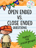 Open Ended Close Ended Questions