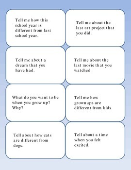Open Ended Conversation Starters